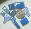 Assortment of 125 Carats 11 Cabochons Blue Chalcedony