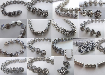 - Bali Style Beads - .999 Pure Silver Over Copper