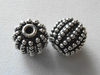 Sterling Silver Beads 10mm 2 Beads with Granulation B117