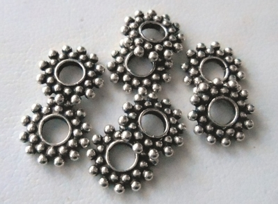 Bead - 10mm - 8 Beads - Sterling Silver<br>B54