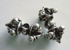 Bead - 10x19mm - 2 Beads - Sterling Silver<br>FB2