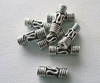 Bead - 10x3mm - 8 Beads - Sterling Silver<br>B2-1