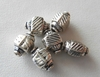 Bead - 10x6mm - 6 Beads - Sterling Silver<br>B76