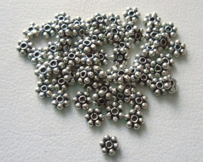 Bead - 3mm - 62 Beads - Sterling Silver<br>B9-3