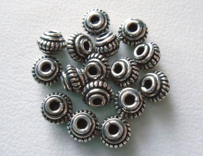 Bead - 4mm - 16 Beads - Sterling Silver<br>B3-4