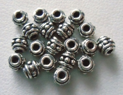 Bead - 4mm - 20 Beads - Sterling Silver<br>B6