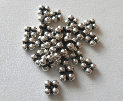 Bead - 4x2mm - 26 Beads - Sterling Silver<br>B108