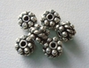 Bead - 4x6mm - 6 Beads - Sterling Silver<br>MB26
