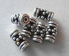 Bead - 4x8mm - 6 Beads - Sterling Silver<br>B114