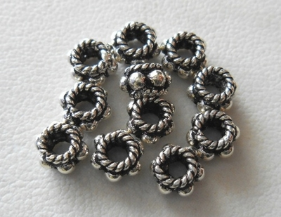 Bead - 5x3mm - 11 Beads - Sterling Silver<br>B81