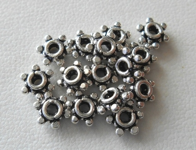 Bead - 6mm - 15 Beads - Sterling Silver<br>B74