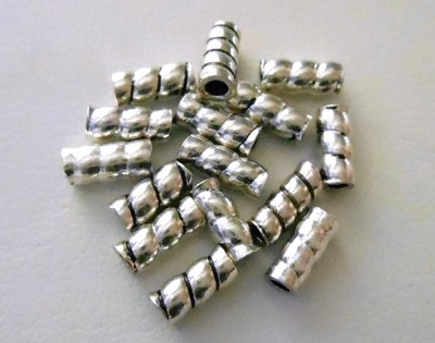 Bead - 7x3mm - 15 Beads - Sterling Silver<br>B65