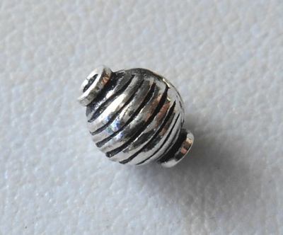 Bead - 7x5mm - 1 Bead - Sterling Silver<br>ORSB2017