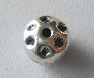Bead - 7x8mm - 1 Bead - Sterling Silver<br>ORSB1996