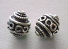 Bead - 9x11mm - 2 Beads - Sterling Silver<br>B41