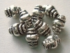 Bead - 9x5mm - 9 Beads - Sterling Silver<br>B21