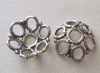 Bead Cap - 14x5mm - 2 Caps - Sterling Silver<br>BZ533