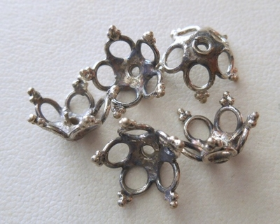 Bead Cap - 6x12mm - 5 Caps - Sterling Silver<br>BCMisc