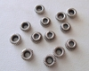 Bead Cap - 6x2mm - 13 Caps - Sterling Silver<br>BC11