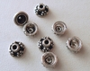 Bead Cap - 7mm - 8 Caps - Sterling Silver<br>BC9-7