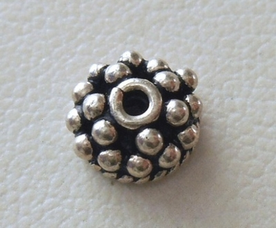Bead Cap - 8x4mm - 1 Cap - Sterling Silver<br>ORSB2005