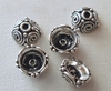 Bead Cap - 8x4mm - 5 Caps - Sterling Silver<br>RBC251