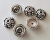 Bead Cap - 9mm - 6 Caps - Sterling Silver<br>BC9-9