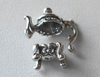 Bead Cap Set - Tea Pot - Top 13x15mm Bottom 4x8mm - 1 Set - Sterling Silver<br>Z906