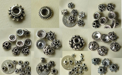 Bali style bead caps sterling silver Full Bags many styles