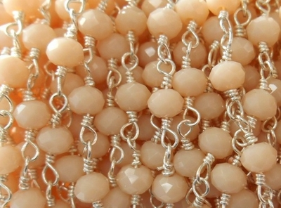 Beaded Chain By-the-Foot - Zeolite - .999 Silver Over Copper<br>SCBKCH-G1