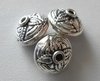 Beads - 13x9mm - 3 Beads - Sterling Silver<br>B98