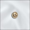 Beads 4mm 25 Beads Gold Filled  Round seamless