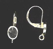 Bezel Cup Lever Back - 7x5mm Cab Setting - 1 Pair - Sterling Silver<br>LB75R