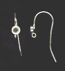 Bezel Cup Wire - 4mm Cab Setting - 1 Pair - Sterling Silver<br>ST4R