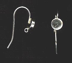 Bezel Cup Wire - 6mm Cab Setting - 1 Pair - Sterling Silver<br>ST6R