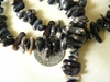 "Black Coral chip beads 16"" Strands Average size 4x8mm"