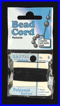 Black Nylon Bead Cord