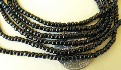"Black Onyx 4mm Heishi style beads 16"" strand"