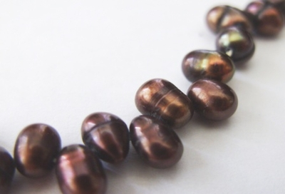 Black Top Drilled Fresh Water Pearl