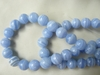 "Blue Band Agate Beads 8mm 16"" strands"