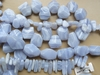 Blue Lace Agate Beads - Round, Square, Chunky, Faceted and more