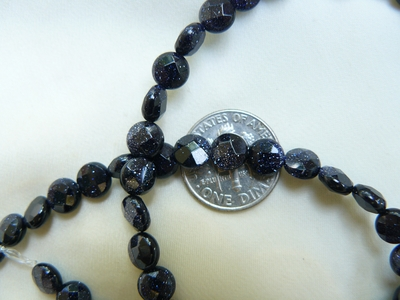 "Blue Stone faceted Discs 4x6mm 16"" Strands"