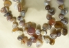 Botswana Agate Beads tumbled Buttons Top Drilled 10 to 14mm