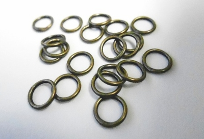 Jump Rings - 6mm - Closed - 20 Pieces - Brass<br>AB-JR6C