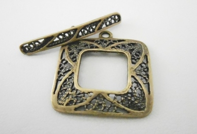 Toggle - 22x22mm - 1 Clasp - Brass<br>7174ABR