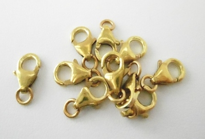 Trigger Clasp - 10mm - 10 Pieces - Brass<br>7801850R