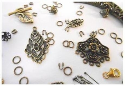 Beads and Findings - Antique Brass and Bronze -