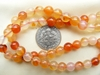 "Carnelian Beads 6mm Natural color 15"" Strand"