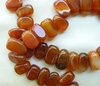 Carnelian Beads High polish Top Drilled Rectangle Nuggets 10x18mm