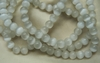 "Cats Eye white 6mm Beads 16"" Strands"